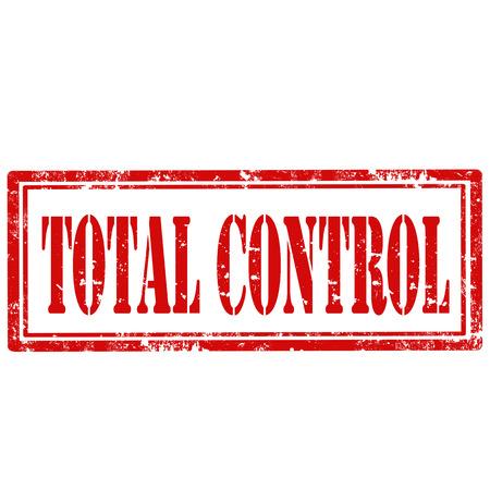 totales: Grunge sello de goma con el texto de Control Total, ilustraci�n vectorial