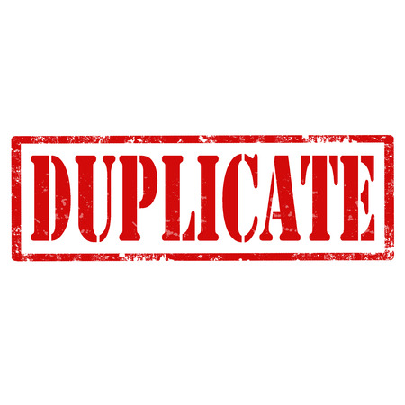 reproduce: Grunge rubber stamp with text Duplicate,vector illustration