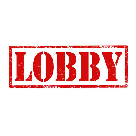 lobby: Grunge rubber stamp with text Lobby,vector illustration