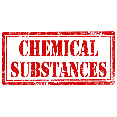 substances: Grunge rubber stamp with text Chemical Substances,vector illustration Illustration