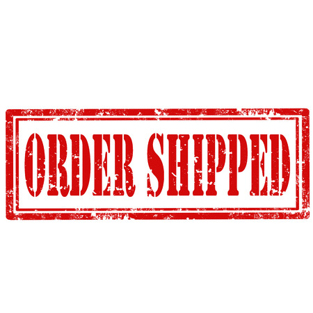 shipped: Grunge rubber stamp with text Order Shipped,vector illustration