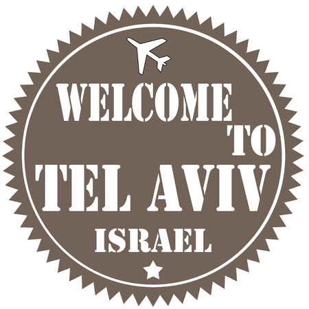 tel aviv: Label with text Welcome To Tel Aviv,vector illustration