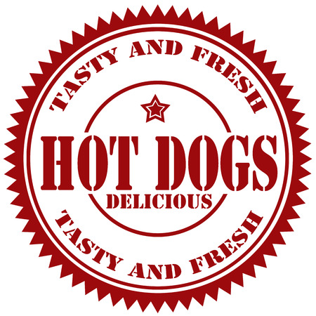 Rubber stamp with text Hot Dogs,vector illustration Vector