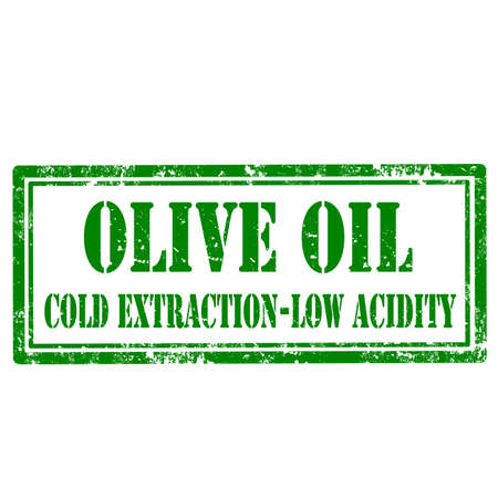 acidity: Grunge rubber stamp with text Olive Oil,vector illustration