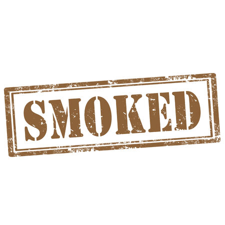 smoked: Grunge rubber stamp with text Smoked,vector illustration