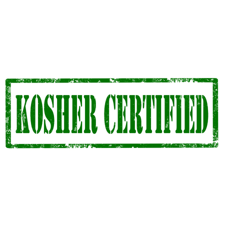 Grunge rubber stamp with text Kosher Certified,vector illustration Vector