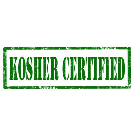 kosher: Grunge rubber stamp with text Kosher Certified,vector illustration Illustration