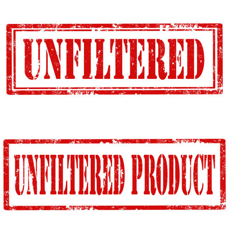 unfiltered: Set of grunge rubber stamps with text Unfiltered and Unfiltered Product,vector illustration Illustration
