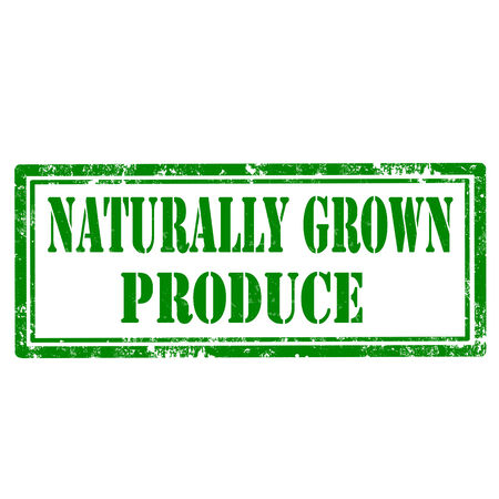 naturally: Grunge rubber stamp with text Naturally Grown Produce,vector illustration