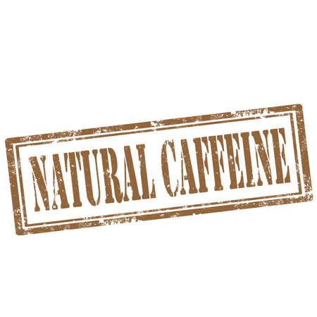 caffeine: Grunge rubber stamp with text Natural Caffeine,vector illustration