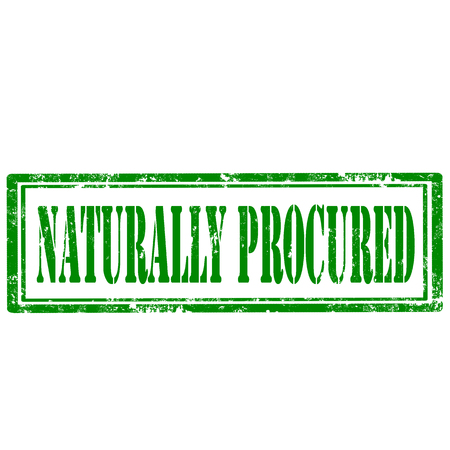 Grunge rubber stamp with text Naturally Procured,vector illustration