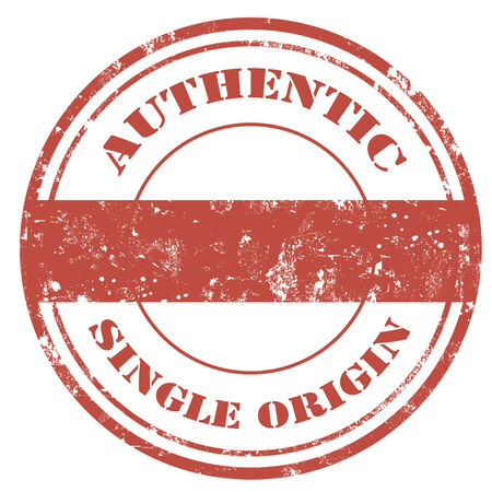 the origin: Grunge rubber stamp with text Authentic-Single Origin illustration Illustration