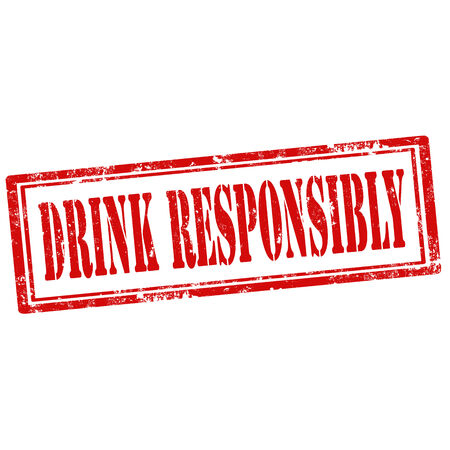 drink responsibly: Grunge rubber stamp with text Drink Responsibly,illustration