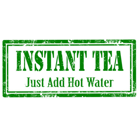 instant message: Grunge rubber stamp with text Instant Tea,illustration