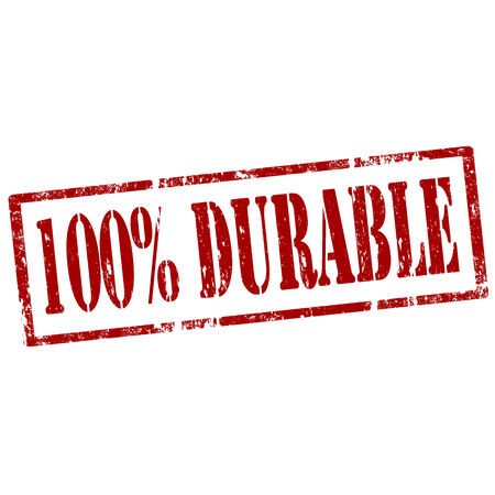 durable: Grunge rubber stamp with text 100  Durable,vector illustration Illustration