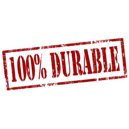 dauerhaft: Grunge Stempel mit Text 100 Durable, Vektor-Illustration
