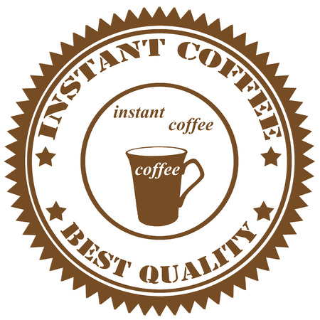 instant coffee: Rubber stamp with text Instant Coffee,vector illustration