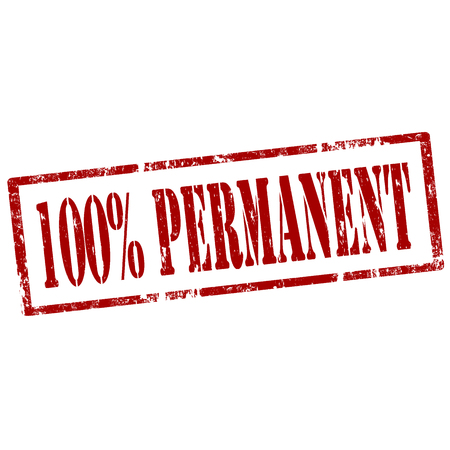 permanent: Grunge rubber stamp with text 100  Permanent,vector illustration