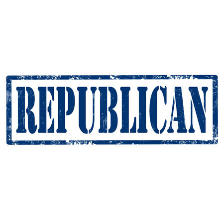 republican: Grunge rubber stamp with text Republican,vector illustration Illustration