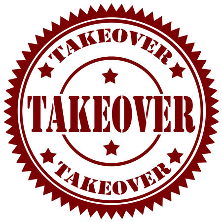 takeover: Rubber stamp with text Takeover,vector illustration