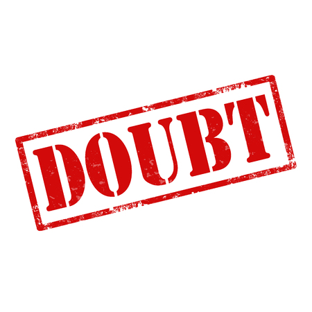 Tampon en caoutchouc grunge avec le texte Doubt, illustration vectorielle
