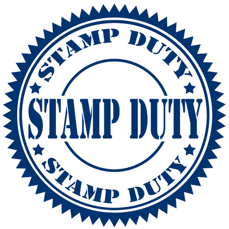 devoir: timbre en caoutchouc avec le texte Stamp Duty