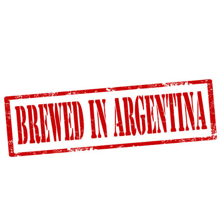brewed: Grunge rubber stamp with text Brewed In Argentina,vector illustration