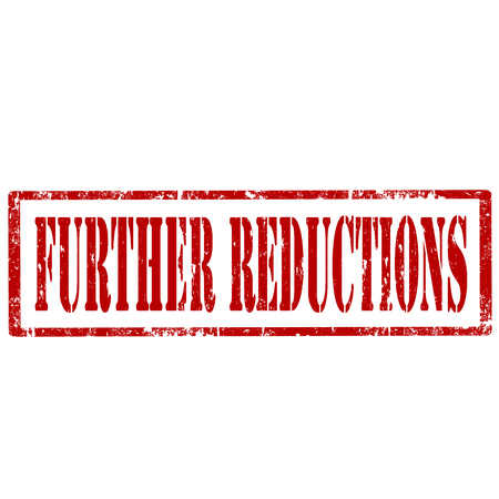 reductions: Grunge rubber stamp with text Further Reductions