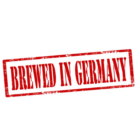 brewed: Grunge rubber stamp with text Brewed In Germany,vector illustration