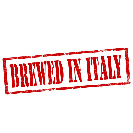 Grunge rubber stamp with text Brewed In Italy,vector illustration