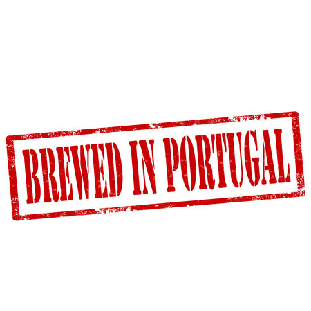 Grunge rubber stamp with text Brewed In Portugal,vector illustration