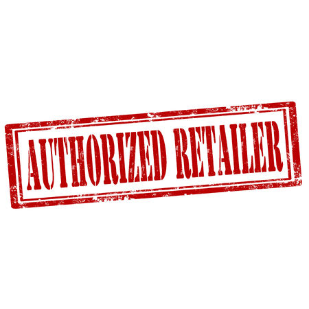 retailer: Grunge rubber stamp with text Authorized Retailer,vector illustration