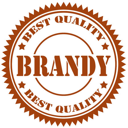 brandy: Rubber stamp with text Brandy,vector illustration