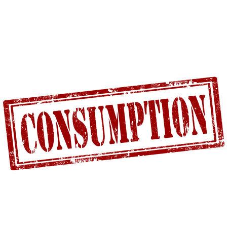 consommation: tampon en caoutchouc grunge avec le texte consommation, illustration vectorielle
