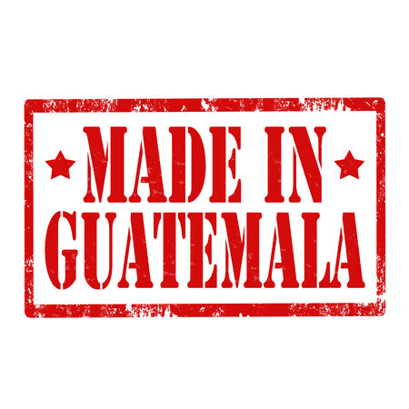 guatemala: Grunge rubber stamp with text Made In Guatemala,vector illustration
