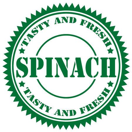 spinat: Gr�n-Stempel mit Text Spinat, Vektor-Illustration