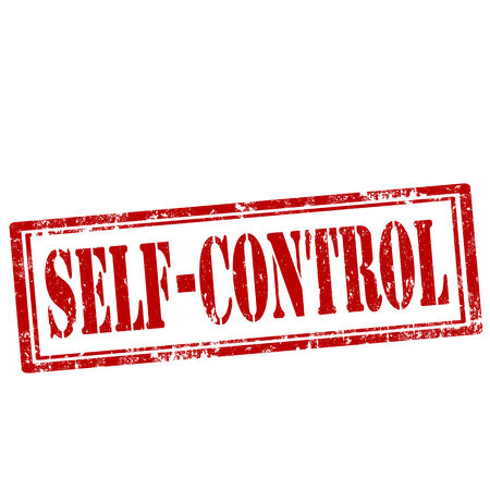 selfcontrol: Grunge rubber stamp with text Self-Control,vector illustration