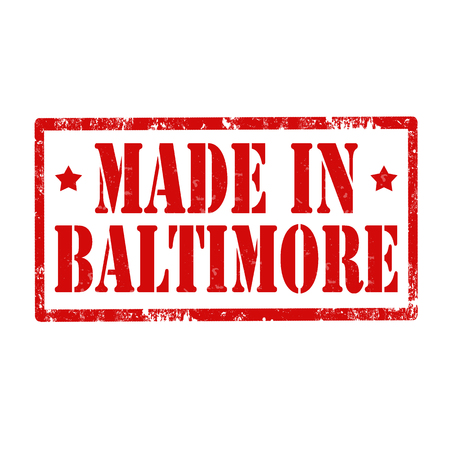 baltimore: Grunge rubber stamp with text Made In Baltimore,vector illustration Illustration