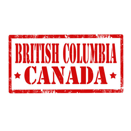 british columbia: Grunge rubber stamp with text British Columbia-Canada,vector illustration Illustration