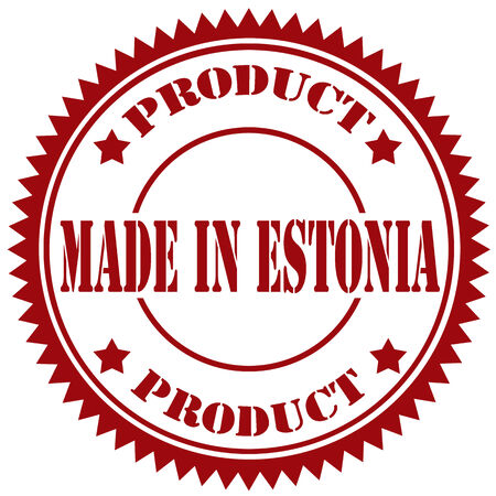 Rubber stamp with text Made In Estonia,vector illustration Vector