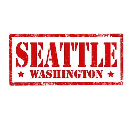 seattle: Grunge rubber stamp with text Seattle,vector illustration