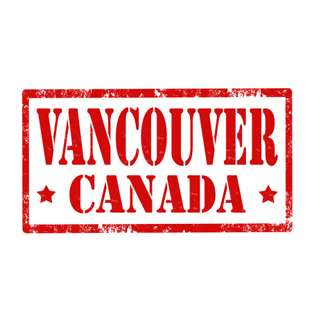 vancouver city: Grunge rubber stamp with text Vancouver-Canada,vector illustration