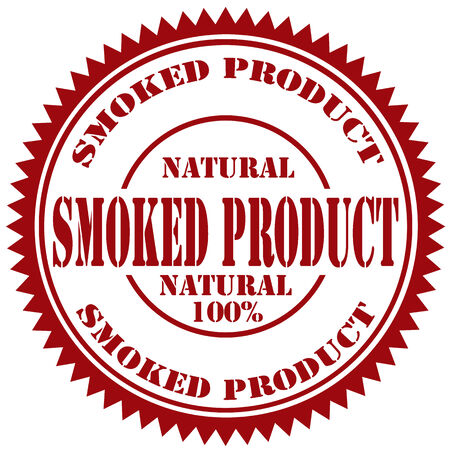 smoked: Rubber stamp with text Smoked Product,vector illustration