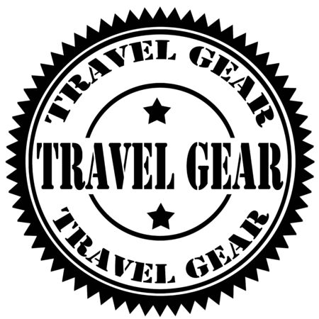 travel gear: Rubber stamp with text Travel Gear,vector illustration