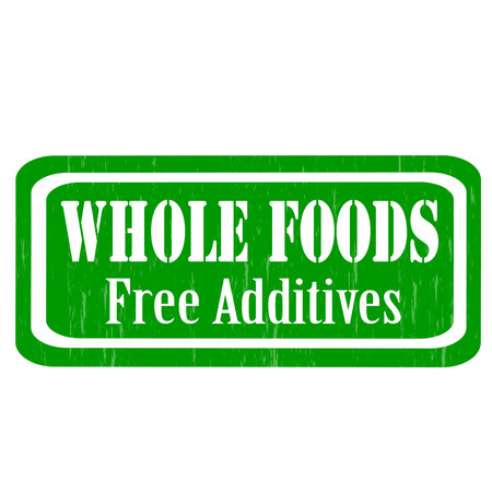 food additives: Grunge rubber stamp with text Whole Foods,vector illustration