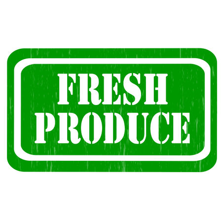 fresh produce: Grunge rubber stamp with text Fresh Produce,vector illustration Illustration