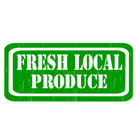 fresh produce: Grunge rubber stamp with text Fresh Local Produce,vector illustration