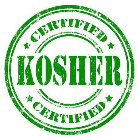 Grunge rubber stamp with text Kosher ,vector illustration Illustration