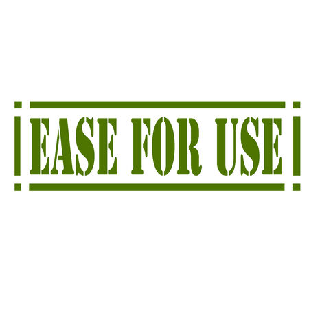 at ease: Rubber stamp with text Ease For Use Illustration