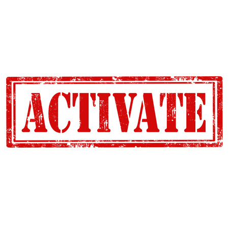 activate: Grunge rubber stamp with text Activate,vector illustration
